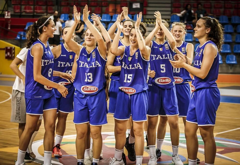 Nazionale Femminile 2018: chiude al 10° posto l'Italbasket U18F agli Europei di Udine la Crozia al 9° posto