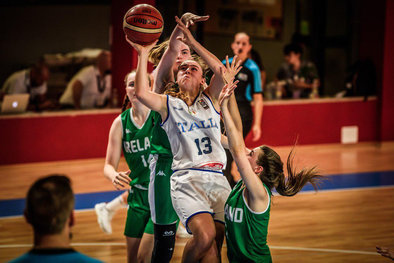 Nazionale Femminile 2018: l'Italbasket U18F supera l'Irlanda e conserva la categoria Division A