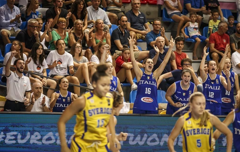 Nazionale Femminile 2018: vittoria per l'Italbasket U18F nel 2° match vs la Svezia lunedì 6 agosto il Belgio