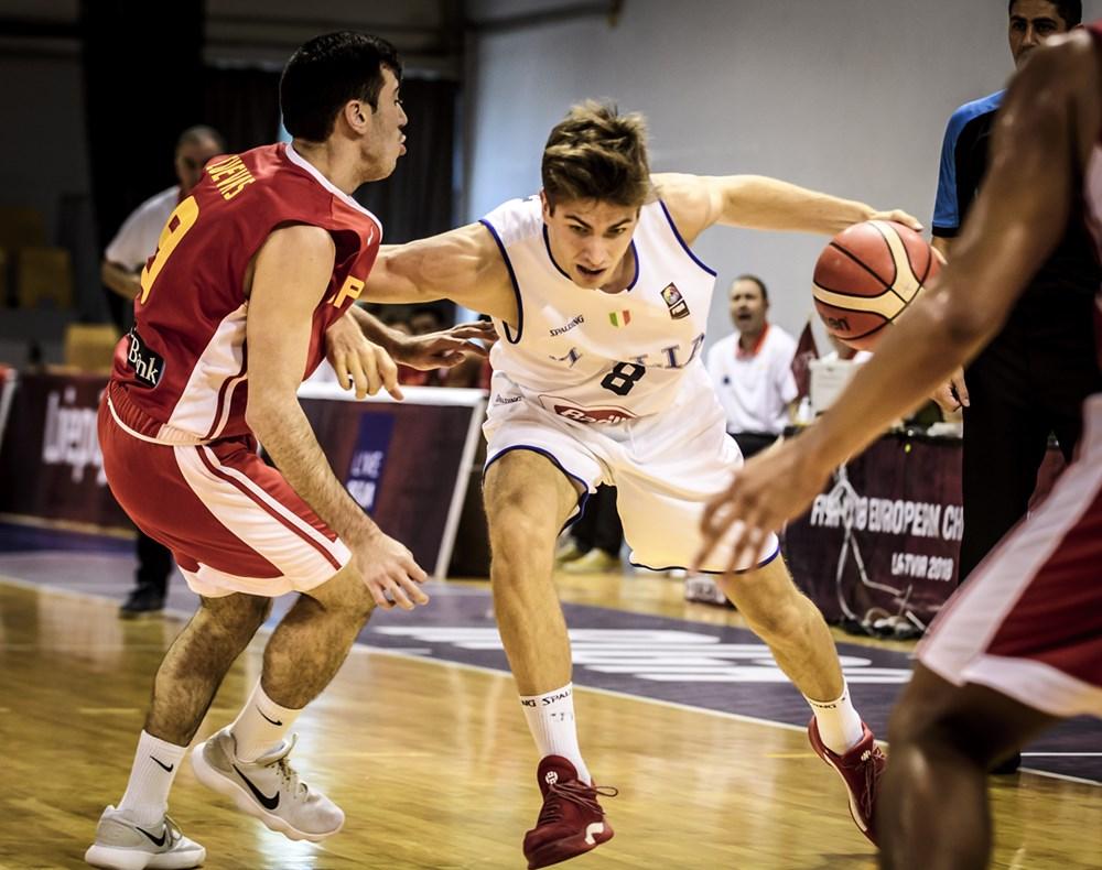 Nazionale Maschile 2018: l'Italbasket U18M chiude al 10° posto la rassegna Europea sconfitta dalla Spagna 62-80 nella finale 9°-10° posto