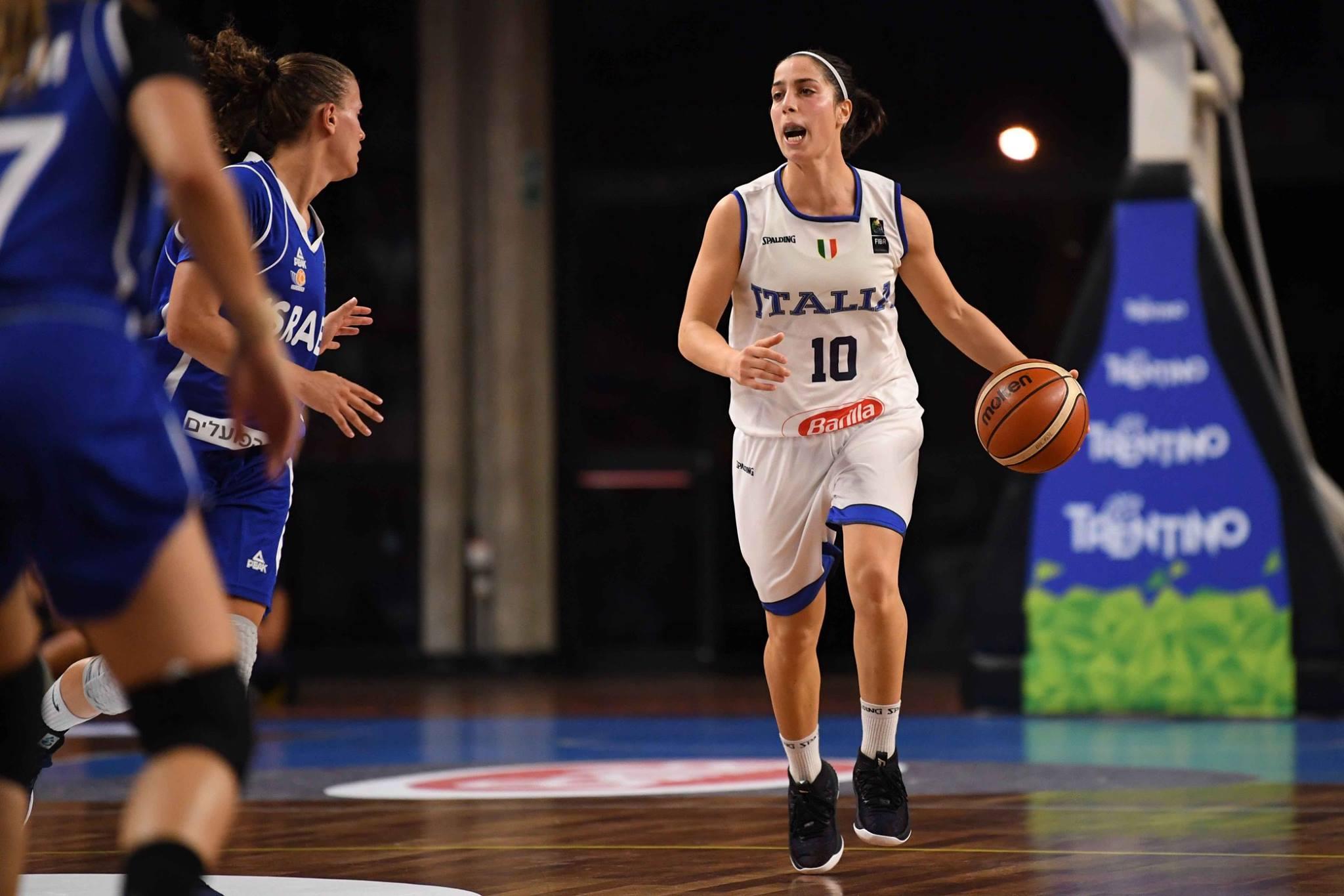 Nazionale Femminile 2018-19: buona la prima amichevole dell'Italbasket Rosa che batte Israele 53-43 domani si replica