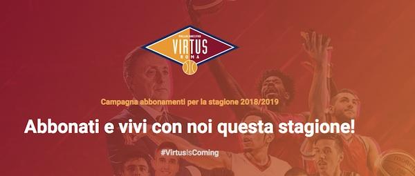 A2 Ovest Old Wild West 2018-19: la campagna abbonamenti della Virtus Roma