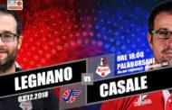 A2 Ovest Old Wild West 10^giornata 2018-19: il ritorno di Mattia Ferrari a Legnano da capo allenatore di Casale
