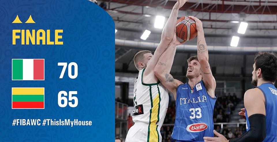 FIBA World Cup Qualifiers 2019: l'Italbasket non poi così brutta ma è sporca e cattiva e batte finalmente la Lituania 70-65 ed ora la Cina è più vicina