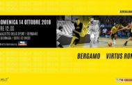 A2 Ovest Old Wild West 7^ giornata 2018-19: anticipo a Bergamo per l'Edilnol Biella che sfida la sorpresa Azimut Bergamo Basket