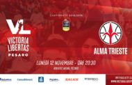 LBA - Legabasket A PosteMobile 2018-19: la VL Pesaro ospita l'Alma Trieste per tornare alla vittoria