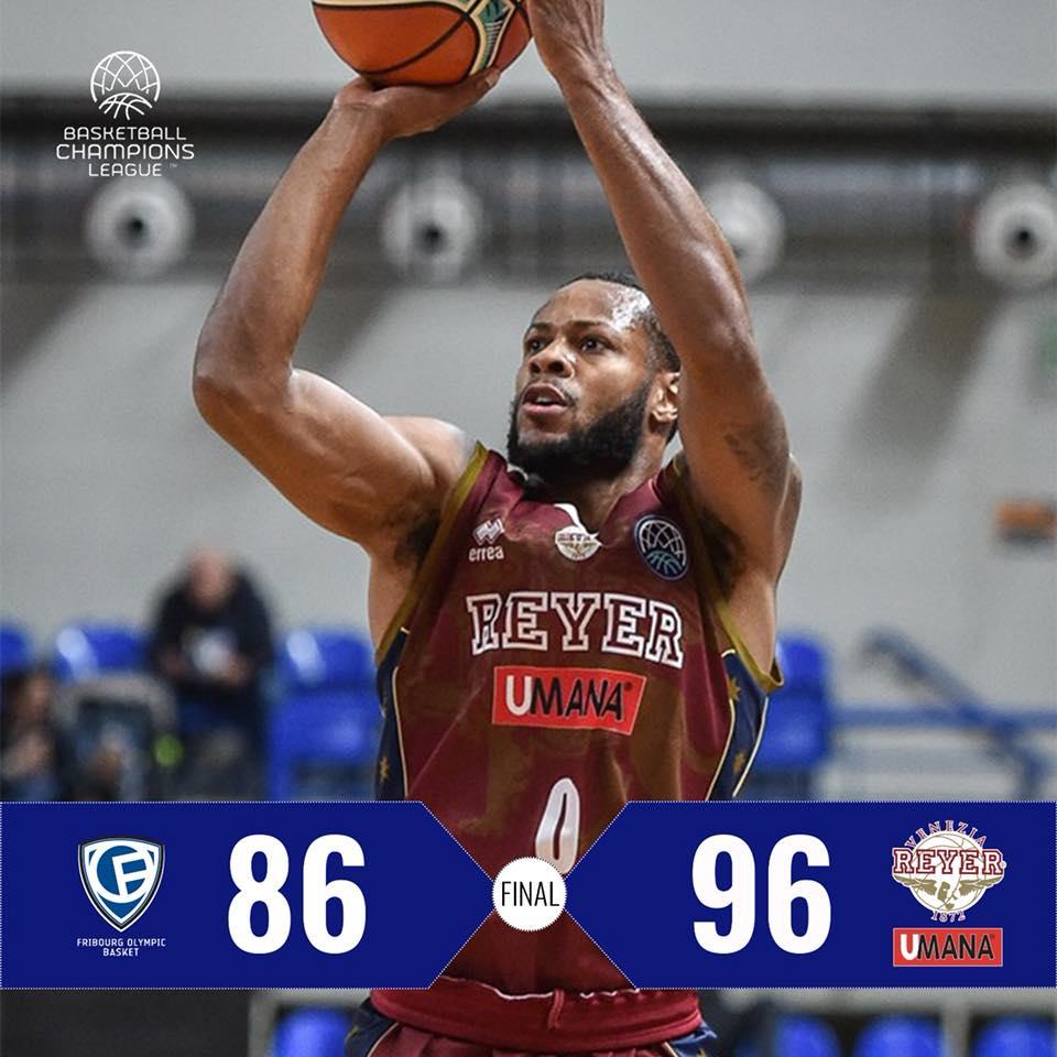 FIBA Basketball Champions League #Round7 2018-19: l'Umana Reyer Venezia sbanca Friburgo all'OT per 86-96 chiudendo il girone d'andata