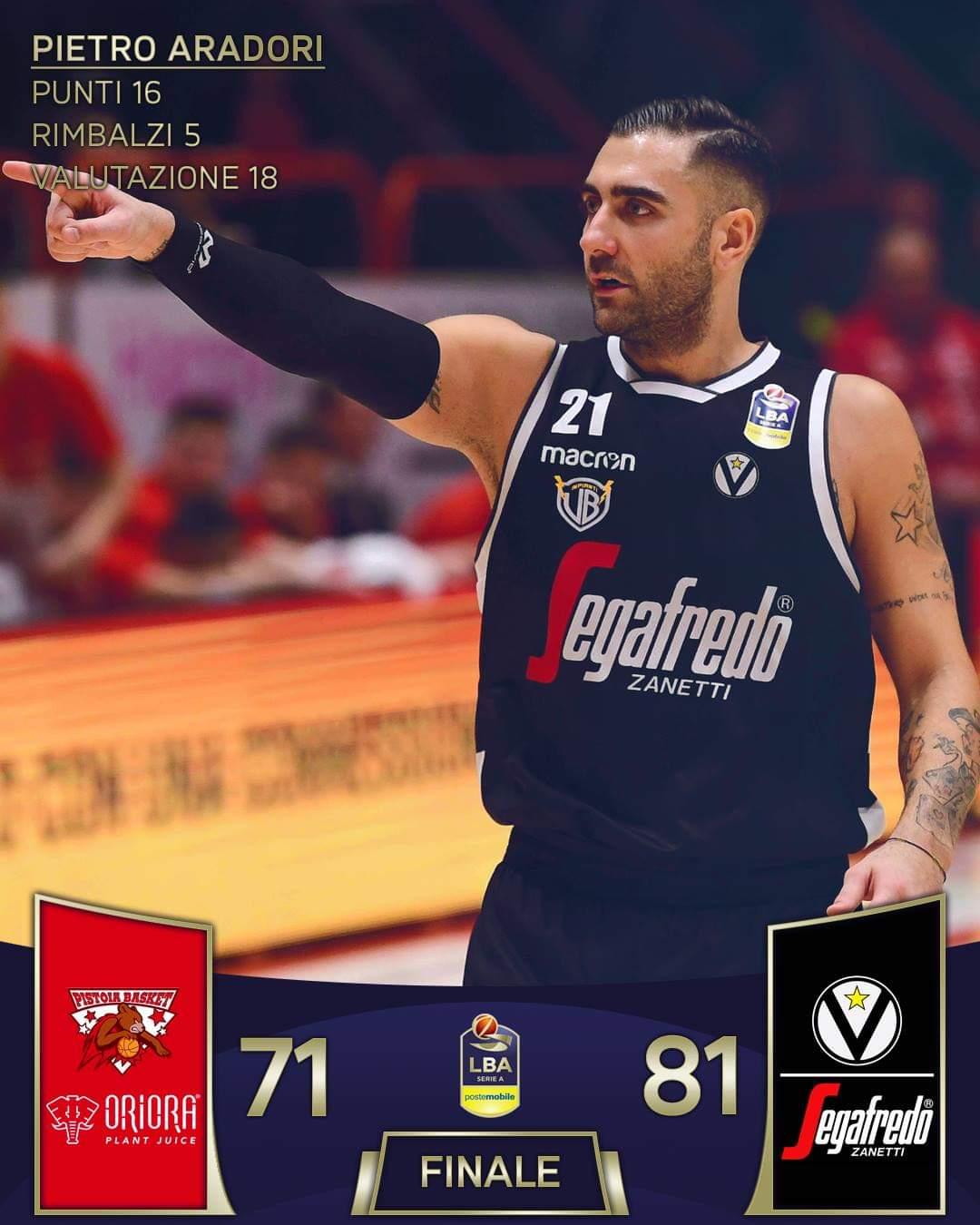 Lega A PosteMobile 10^giornata 2018-19: Bologna passeggia su Pistoia e si rilancia in campionato