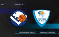 Lega A PosteMobile 10^giornata 2018-19: iniziano i derbies lombardi per la Germani Basket Brescia al PalaLeonessa arriva Cantù