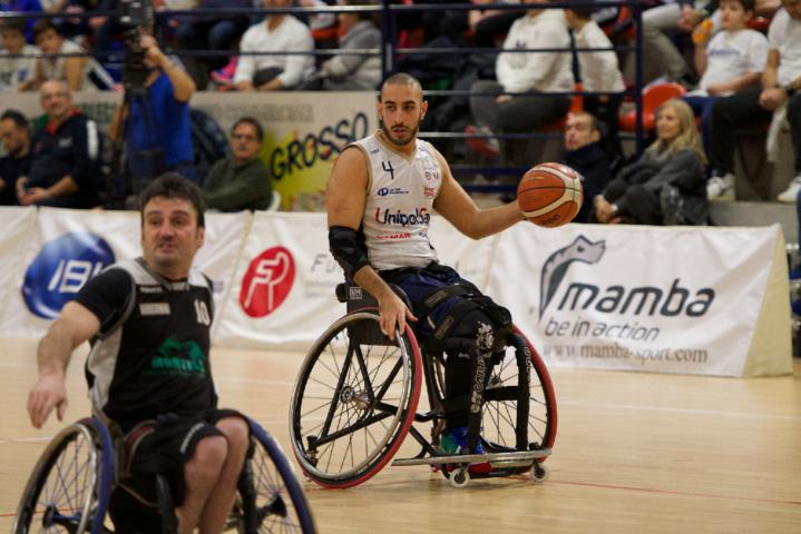 Basket in carrozzina #SerieAFipic 5^ giornata 2018-19: senza storia il derby tra Briantea84 e SBS Montello vincono i campioni d'Italia per 73-30