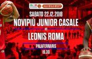 A2 Ovest Old Wild West 13^giornata 2018-19: importante anticipo del sabato sera a Casale Monferrato arriva la Leonis Roma vs una Novipiù che deve riprendere a correre