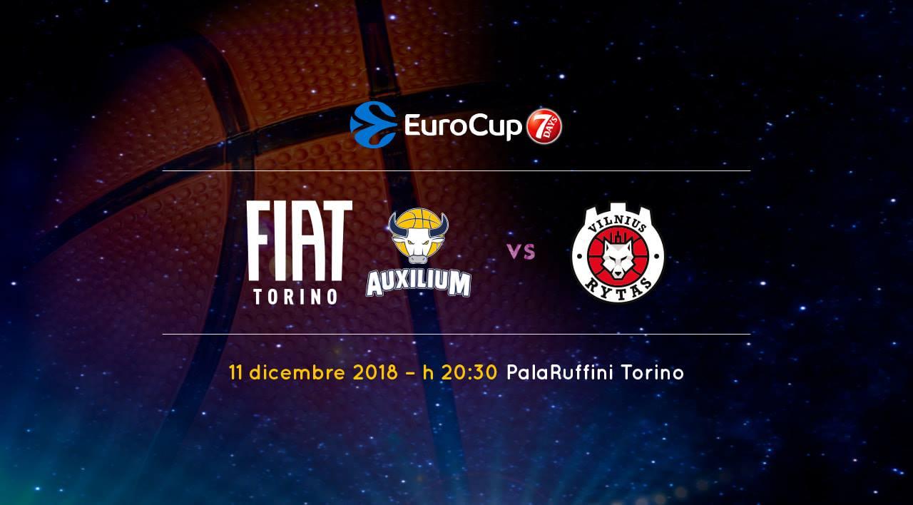 7Days EuroCup #Round9 2018-19: penultimo atto del torneo e la FIAT Torino riceve il Rytas Vilnius