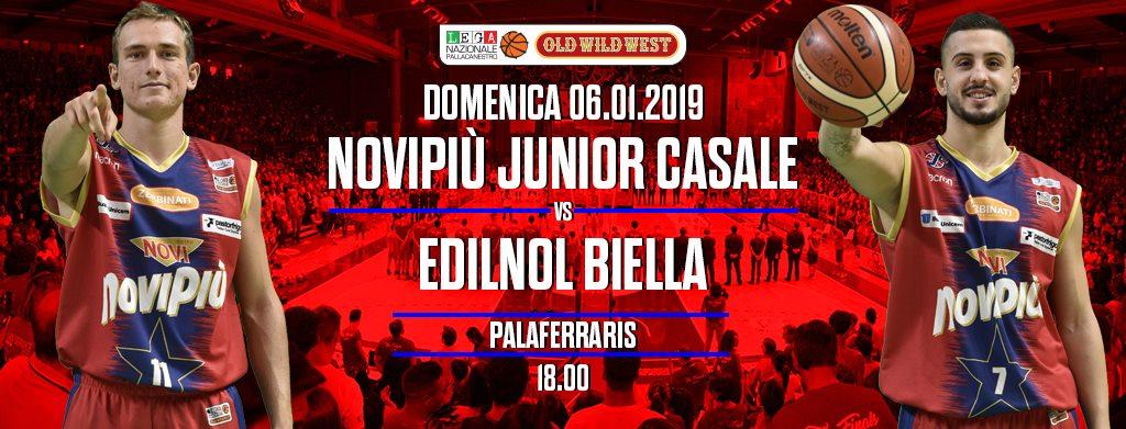 A2 Ovest Old Wild West 15^giornata 2018-19: derby piemontese tra Biella e Casale Monferrato con vista sulle Final Eight di Coppa Italia