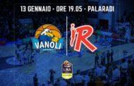 Lega A PosteMobile 15^giornata 2018-19: ultimo match del girone d'andata per la Vanoli Cremona che riceve una pericolosa Grissin Bon Reggio Emilia