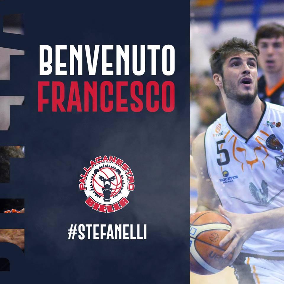 A2 Ovest Old Wild West Mercato 2018-19: arriva da Tortona la guardia Francesco Stefanelli alla Pallacanestro Biella