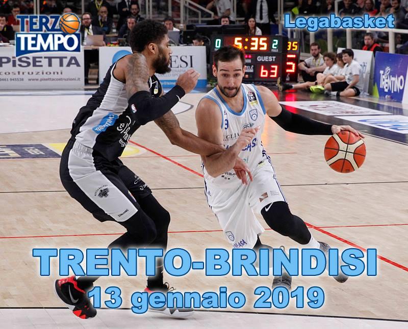 Lega A PosteMobile 15^giornata 2018-19: l'emozionante match con il buzzer beater di Ricky Moraschini in Terzo Tempo di Trento vs Brindisi