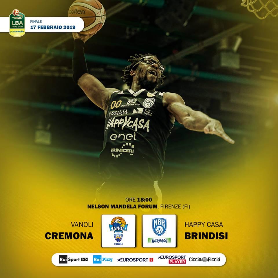 PosteMobile Final Eight 2019: due debuttanti al Grande Ballo ovverossia Cremona vs Brindisi questa sera in Finale per scrivere la storia