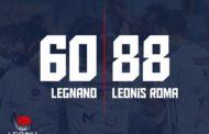 A2 Ovest Old Wild West 7^di ritorno 2018-19: la Leonis Roma finalmente vince fuori casa battendo l'Axpo Legnano per