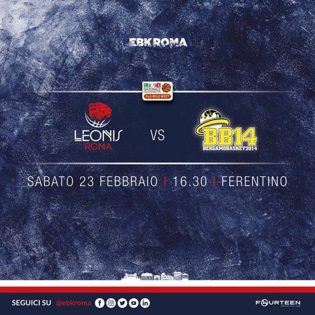 A2 Ovest Old Wild West 8^di ritorno 2018-19: la Leonis Roma dopo la bella vittoria di Legnano vuole bissare in casa vs Bergamo