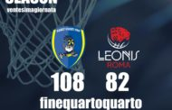 A2 Ovest Old Wild West 5^di ritorno 2018-19: la Leonis Roma cade ancora vince la Givova Scafati per 108-82