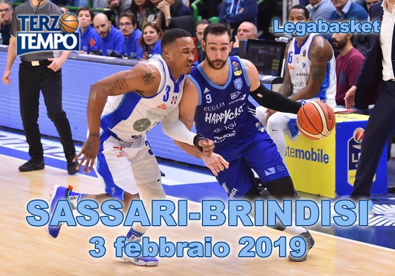 Lega A PosteMobile 3^di ritorno 2018-19: è sempre grande Brindisi che vince anche a Sassari rivediamo il tutto in Terzo Tempo
