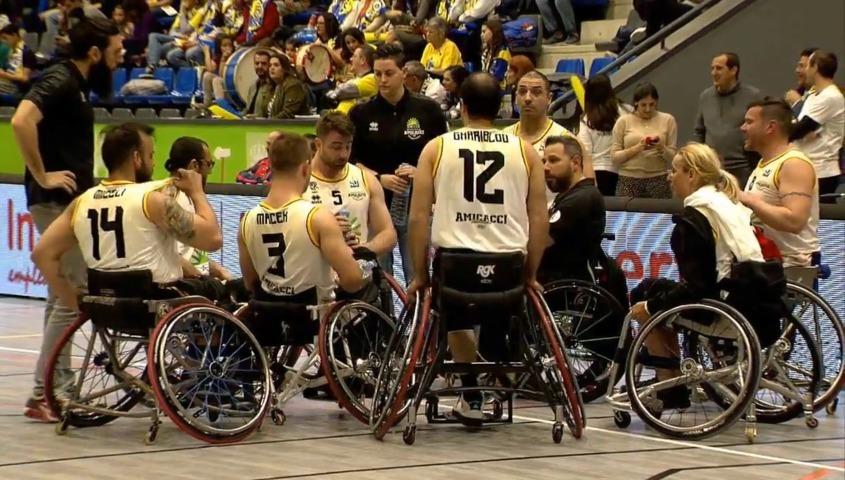 Basket in carrozzina #Game1 1/4 IWBF Champions League 2019: la DECO Group Amicacci Giulianova ci ha provato ma esce a testa alta dal torneo