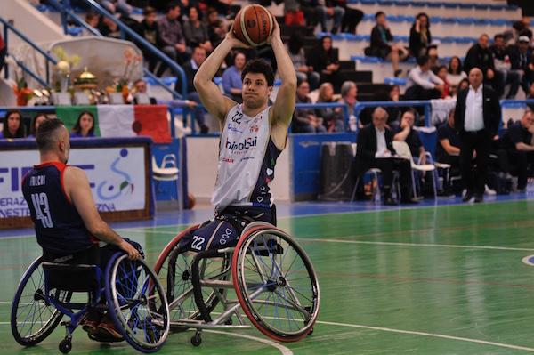 Basket in carrozzina F4 Coppa Italia Fipic 2018-19: quasi un punto a minuto per Carossino che porta la UnipolSai in finale dove troverà il Santo Stefano Avis