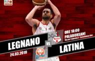 A2 Ovest Old Wild West 11^di ritorno 2018-19: l'Axpo Legnano torna al PalaBorsani davanti lo scoglio del Latina Basket