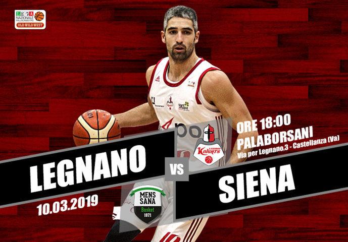A2 Ovest Old Wild West 9^di ritorno 2018-19: l'Axpo Legnano vincente vs Rieti attende una Mens Sana Siena ormai in disuso...