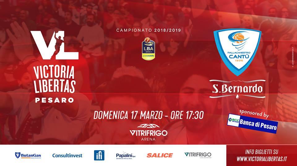Lega A PosteMobile 7ìdi ritorno 2018-19: a Pesaro arriva una lanciatissima Cantù, ma la VL deve vincere