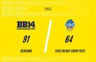 A2 Ovest Old Wild West 11^di ritorno 2018-19: il Bergamo Basket non è la Virtus Roma battuta Rieti 91-64