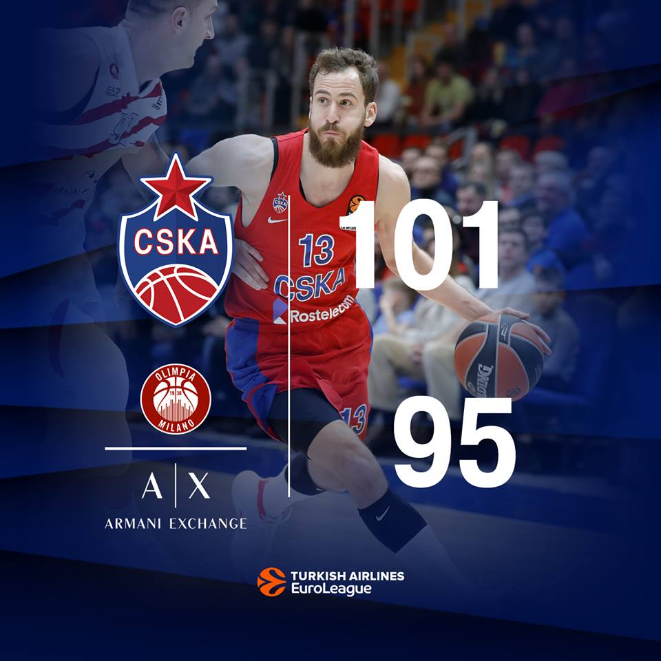 Euroleague #Round25 2018-19: un rapido commento video del post gara del match CSKA Moscow vs AX Milano