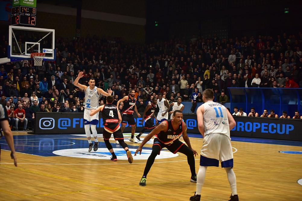 FIBA Europe Cup #Game1 ottavi di finale 2018-19: vittoria esterna di Varese in Kosovo a Prishtina ma quanta fatica!
