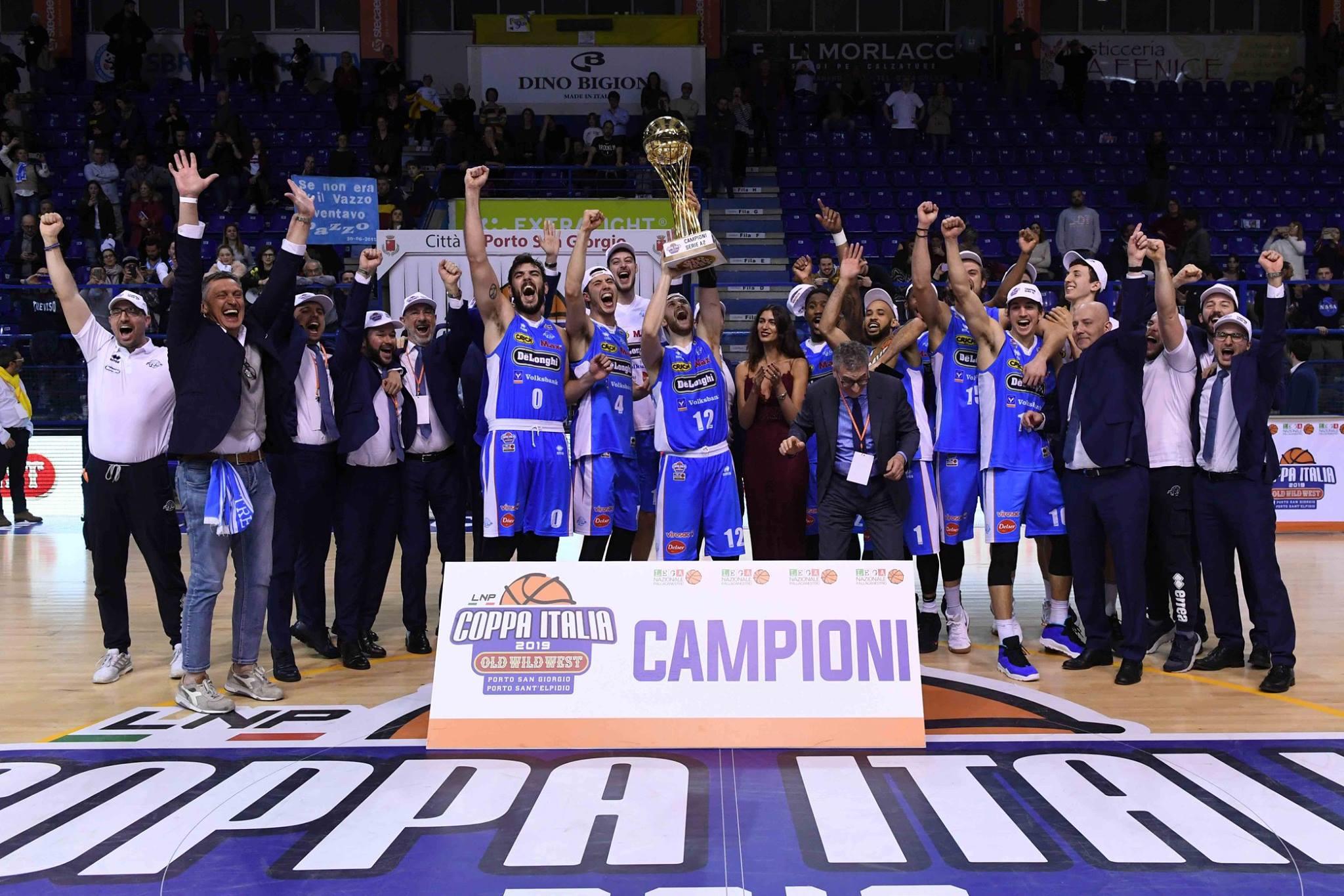 LNP Coppa Italia Old Wild West Finale 2019: la festa è della Dé Longhi Treviso che batte la Fortitudo Bologna 75-84