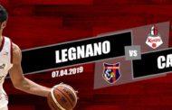 A2 Ovest Old Wild West 13^di ritorno 2018-19: spareggio in chiave Playout tra Axpo Legnano e BPC Virtus Cassino in Lombardia