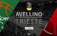 Lega A PosteMobile 10^di ritorno 2018-19: insolito posticipo del martedì sera tra Sidigas Avellino ed Alma Trieste