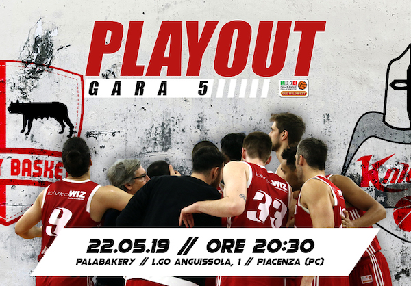 A2 Old Wild West gara5 playout 2018-19: tutto in una notte tra Bakery Piacenza ed Axpo Legnano Knights