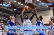 Lega A PosteMobile Gara1 quarti di finale Playoff 2019: l'implacabile Sassari batte anche Brindisi riviviamola in Terzo Tempo