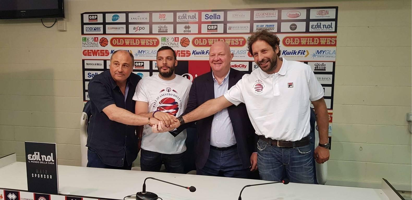 A2 Ovest Old Wild West Mercato 2019-20: presentato oggi a Biella il nuovo coach Paolo Galbiati