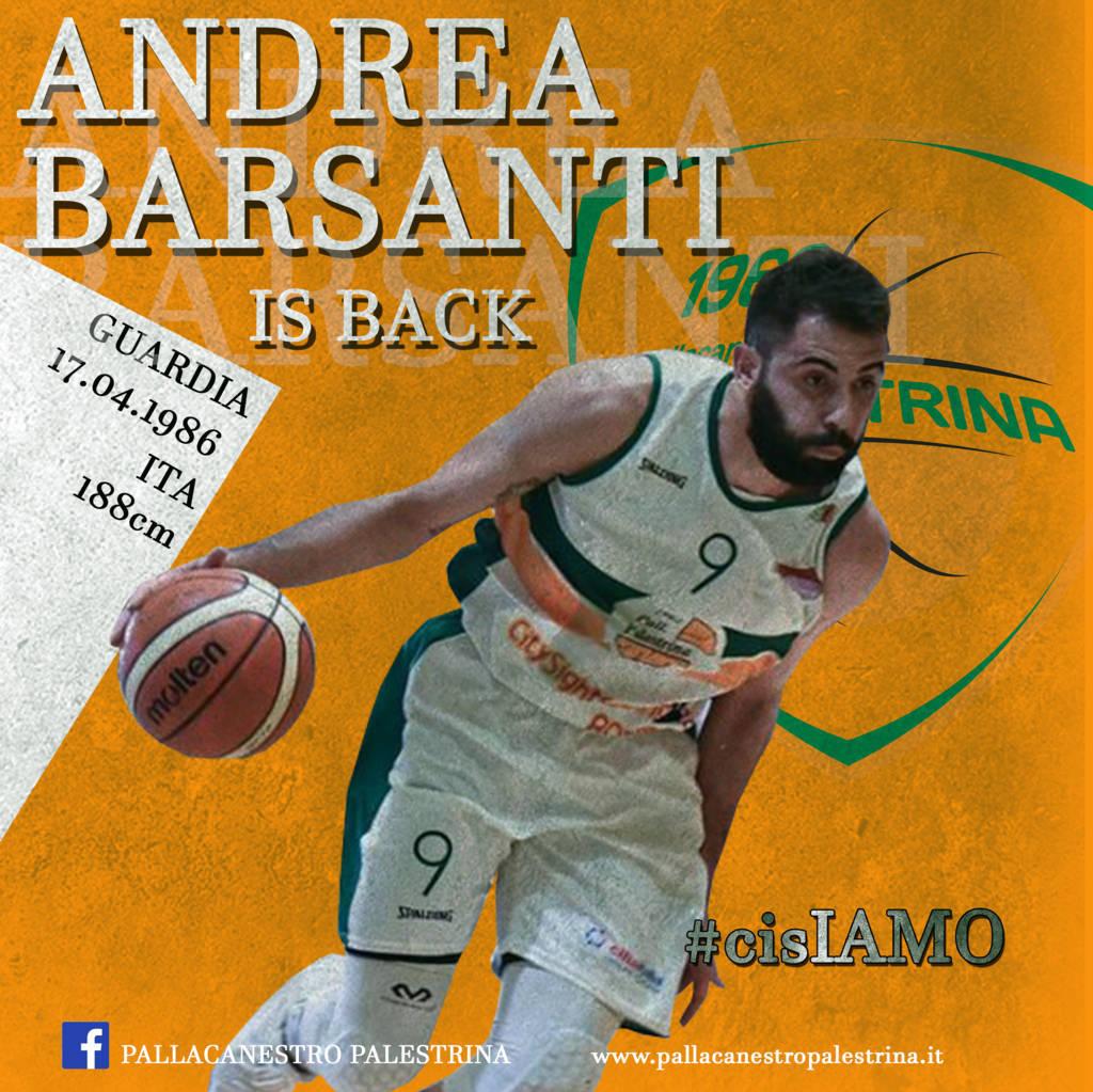 Serie B girone D Old Wild West Mercato 2019-20: un gradito ritorno a Palestrina ecco Andrea Barsanti