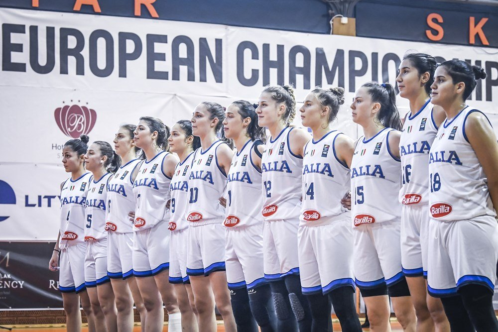 FIBA U18 Women's Eurobasket 2019: ottimo esordio per l'U18F Italbasket Rosa agli Europei in Bosnia battuto il Belgio nettamente