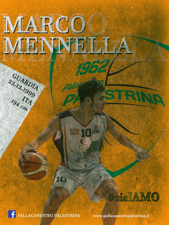 Serie B girone D Old Wild West Mercato 2019-20: il giovane under Marco Mennella è un giocatore della Citysightseeing Palestrina