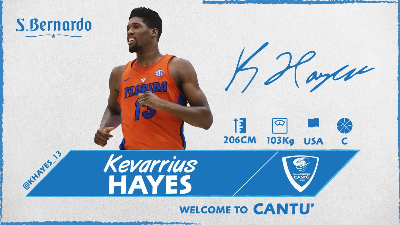 Lega A PosteMobile Mercato 2019-20: primo giocatore straniero a Cantù arriva il rookie centro dai Florida Gators Kevarrius Hayes