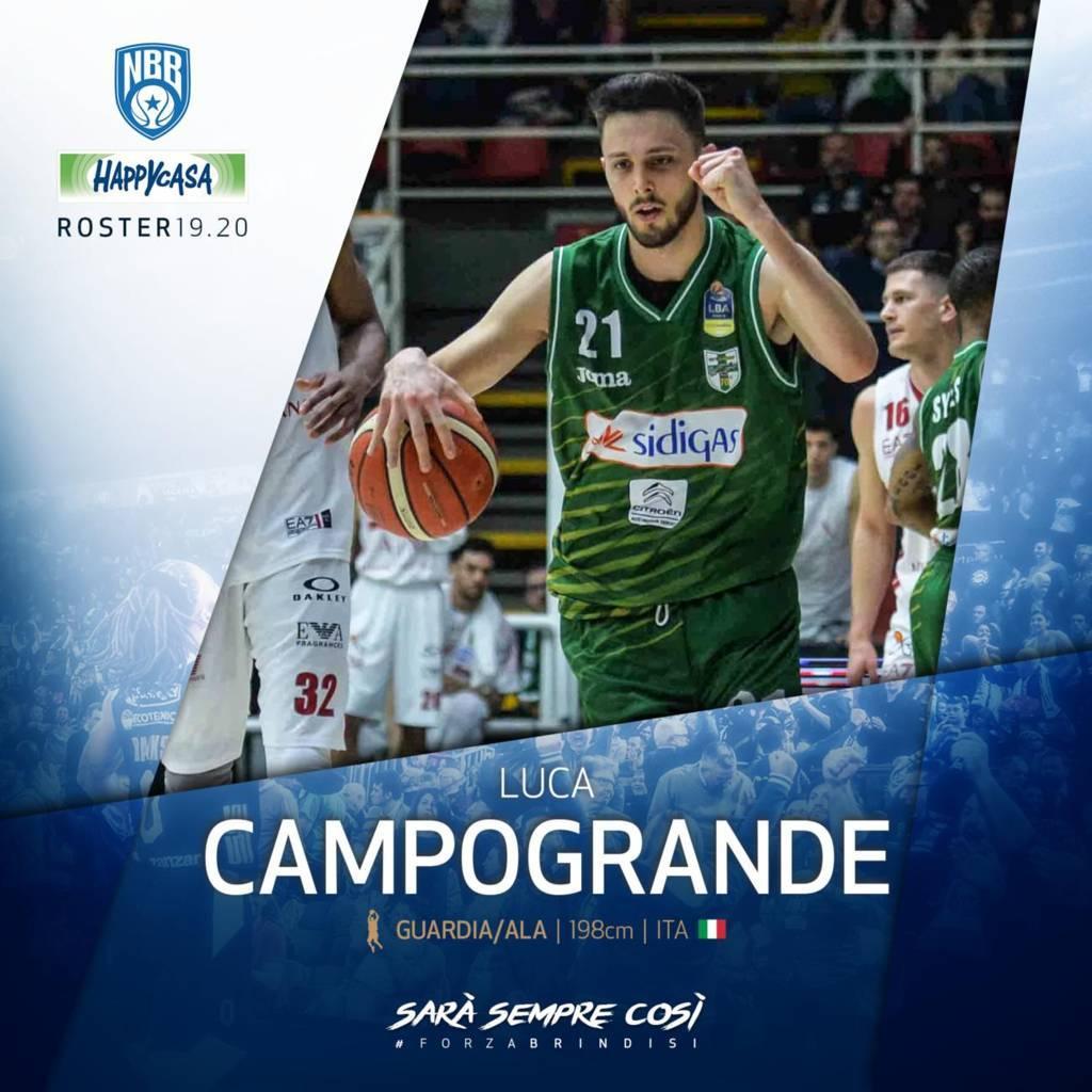 Legabasket LBA Mercato 2019-20: tra i due litiganti il terzo gode e Luca Campogrande sceglie Brindisi