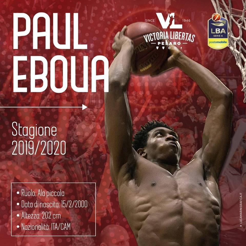 Lega A PosteMobile Mercato 2019-20: la VL Pesaro prende in prestito per un anno Paul Eboua da Roseto