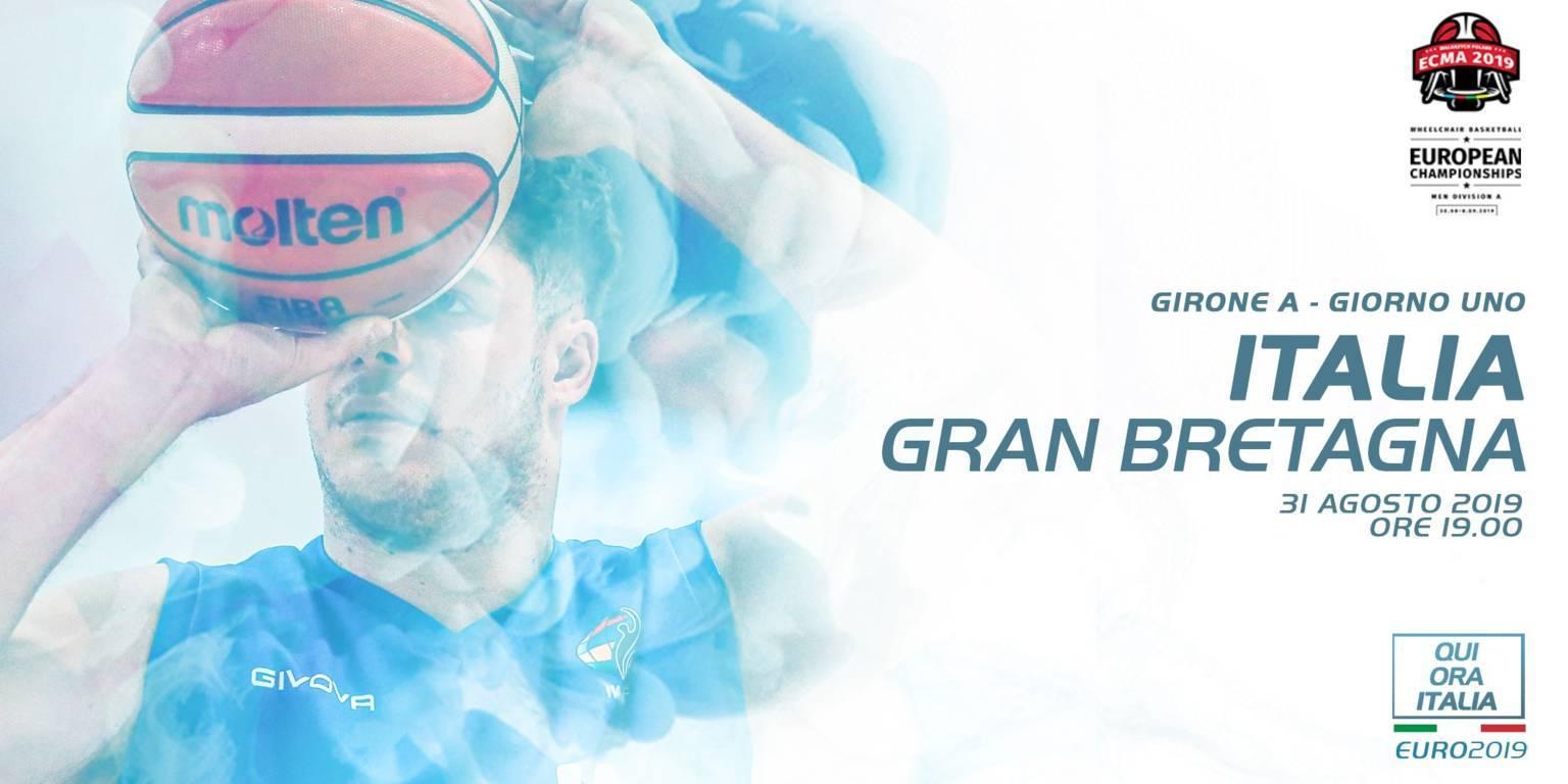 Basket in carrozzina IWBF Europe Championship 2019: al debutto l'ItalFipic s'inchina alla superiorità britannica per 54-76