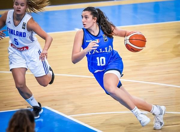 FIBA Campionato Europeo U16 Femminile 2019: l'Italbasket U16F reagisce ed affonda la Finlandia con Blasigh show