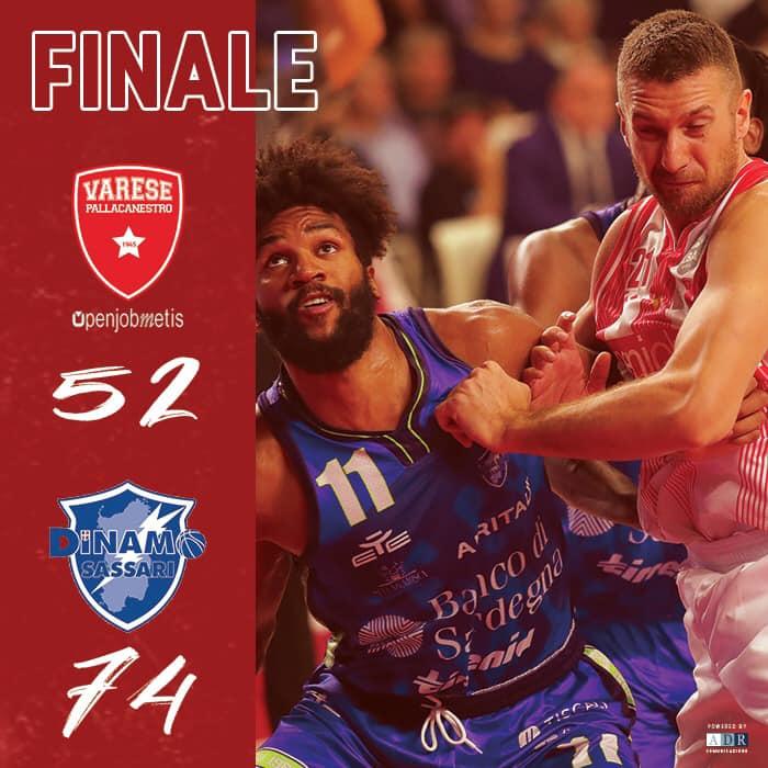 Legabasket LBA 1^giornata 2019-20: la Dinamo Sassari passa come un rullo compressore a Varese