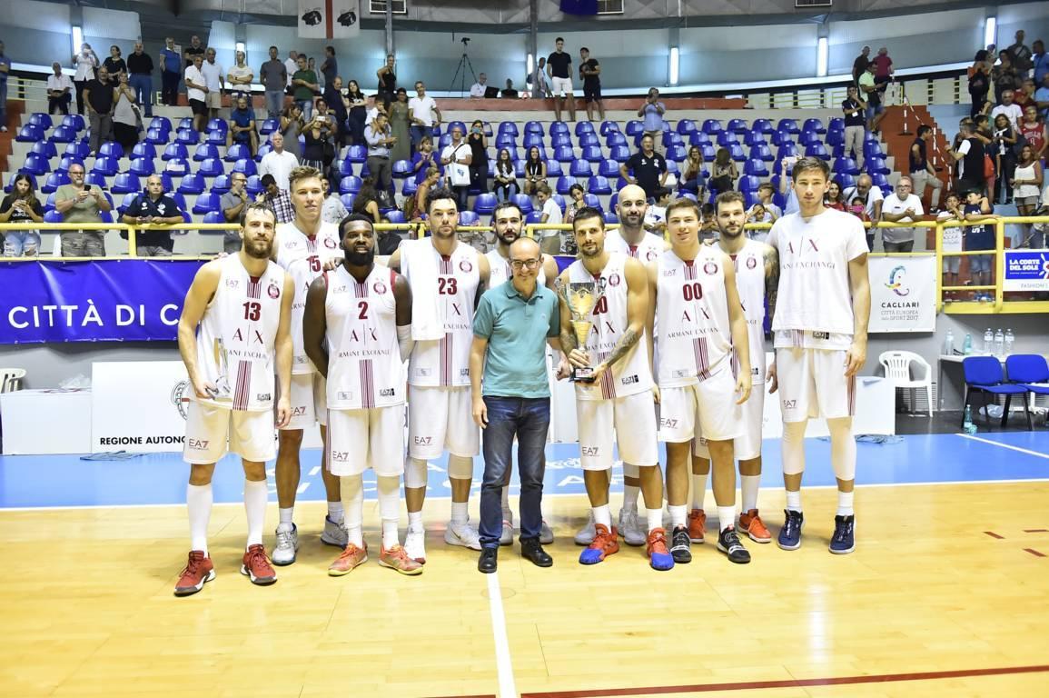 Legabasket LBA precampionato 2019-20: a Cagliari trionfa la nuova Olimpia Milano di Ettore Messina, Sassari termina ultima