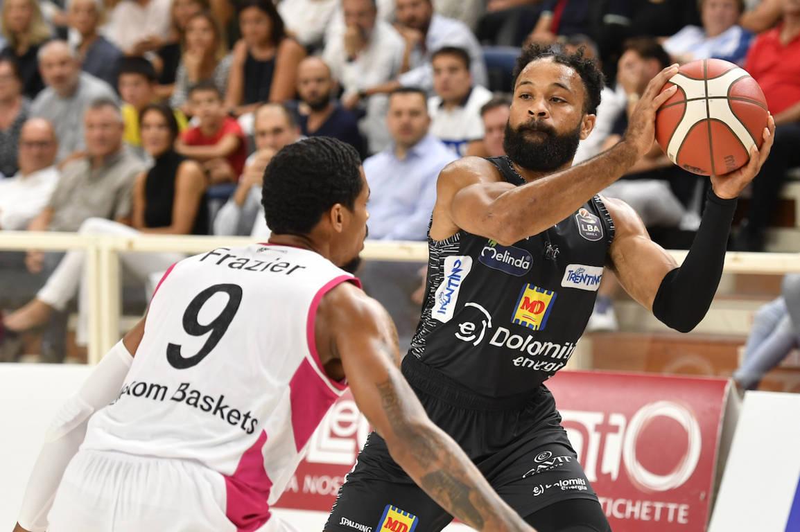 Legabasket LBA Precampionato 2019-20: la festa della Dolomiti Energia Trentino riesce a metà vince Bonn